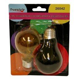 96 Bulk 2pc Light Bulb Asst Colors