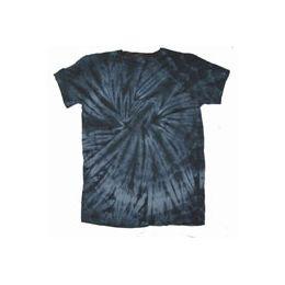 60 Bulk Youth Black Spider Tye Dyed Tee Shirt