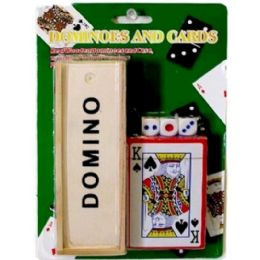 72 Bulk Dominoes Card Dices Set