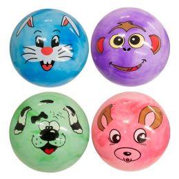 144 Bulk Marble Pvc Ball With Animal Face