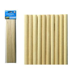 96 Bulk Craft Wooden Dowel 10pc
