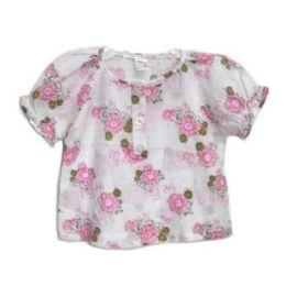 144 Bulk Baby Girl Dress Shirt Asst 12x12 in