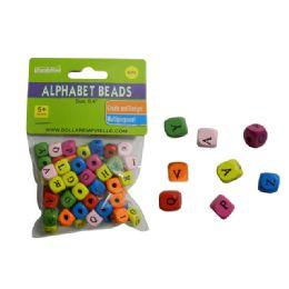 144 Bulk 60 Piece Wooded Alphabet Beads
