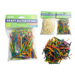 144 Bulk 750 Pieces Craft Match Sticks