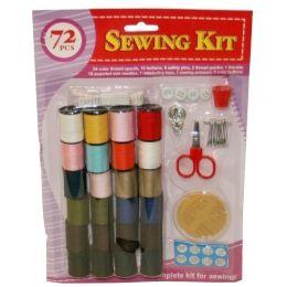 72 Bulk 72 Piece Sewing Kit