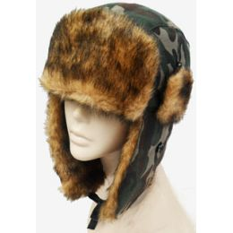 36 Bulk Camouflage Aviator Hat