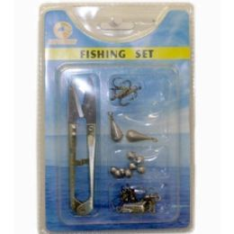 120 Bulk 5 Pieces Fishing Set Scissor Hooks Pear