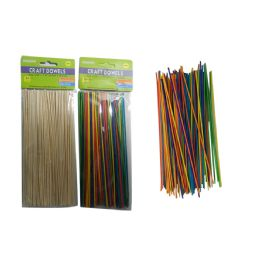 144 Bulk 100pc Craft Dowels