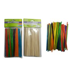 144 Bulk Assorted Color Craft Sticks