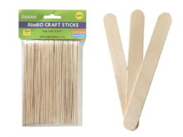 144 Bulk 50 Piece Jumbo Craft Stick