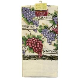 144 Bulk Assted Printed Kitchen Towel 15x25 in