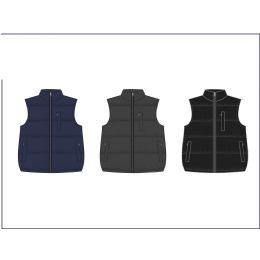 12 Bulk Men's Reversible Nylon Fleece Vest