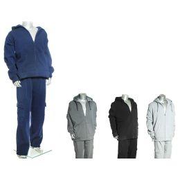 16 Bulk Men's Heavy Padded Fleece Set W/ Cargo Top And Bottom