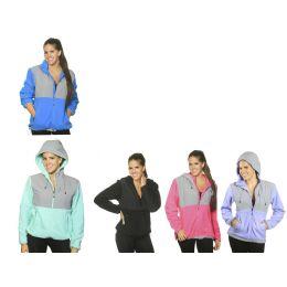12 Bulk Women's Polar Fleece Jacket W/hood
