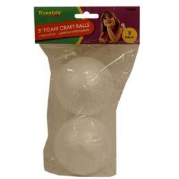 96 Bulk 2pc 3in Foam Craft Balls