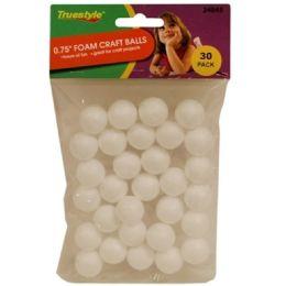 96 Bulk 30pc .75in Foam Craft Balls