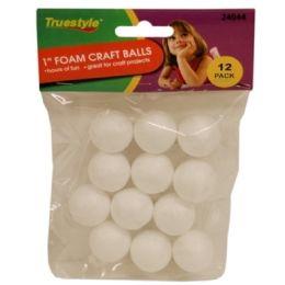 144 Bulk 12pc 1in Foam Craft Balls