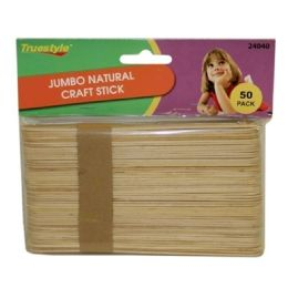 96 Bulk 50pc Jumbo Natural Craft Sticks(size:150