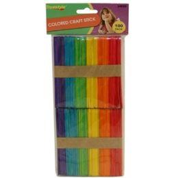 96 Bulk 100pc Colored Craft Sticks(size:114*10*2