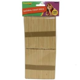 96 Bulk 100pc Natural Craft Sticks (size:114*10*