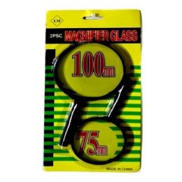 120 Bulk 2pc Magnifying Glass 100mm And 75mm