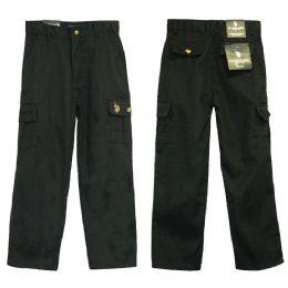 24 Bulk Boys Adj. Waist Cargo Pants