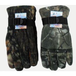 72 Bulk Camoflage Heavy Fleece Gloves