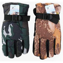 36 Bulk Adult Camouflage Ski Gloves