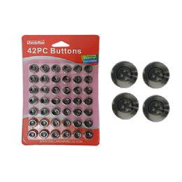 96 Bulk 42pc 15mm Dia Button
