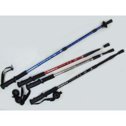 """60 Bulk Antishock Hiking Stick Expandable From 25"""" To 52"""" Assorted Colors"""