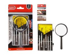 96 Bulk 7pc Precision Screwdrivers + Magnifying Glass