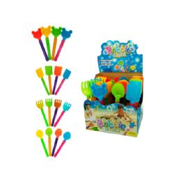 96 Bulk Sand Toy Bubble Stick Counter Top Display