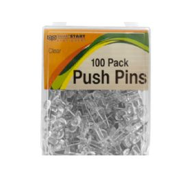 72 Bulk Clear Push Pins