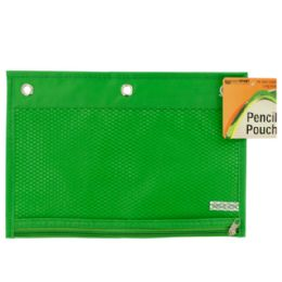 72 Bulk Zippered Pencil Pouch For 3-Ring Binders