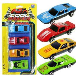72 Bulk 4 Piece Die Cast Race Car Sets