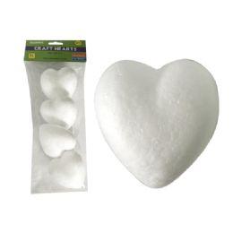 "96 Bulk Craft Foam Hearts 4pc 3.25x3"""