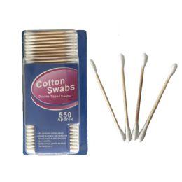 72 Bulk 550 Piece Wooden Cotton Swabs