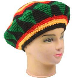 36 Bulk Mens Winter Crochet Beret Hat