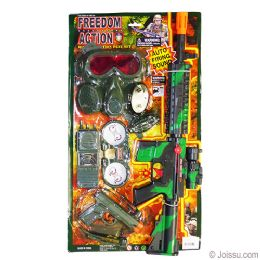 6 Bulk 7 Piece Military Action Play Sets