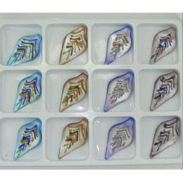 576 Bulk Assorted Color Murano Pendant Venetian Arte Glass