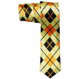72 Bulk Men's Slim Tie With Pattern