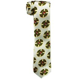 72 Bulk Men's Slim Silver Tie With Fdny Print