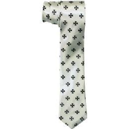 72 Bulk Men's Sim Silver Tie