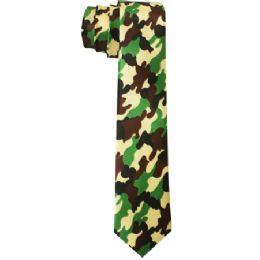 72 Bulk Men's Slim Camo Style Tie