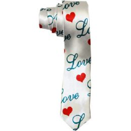 72 Bulk Men's Slim Love Tie