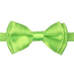72 Bulk Kid Bowtie 514 Light Green