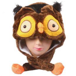 36 Bulk Cute Owl Character Earmuff Animal Hat