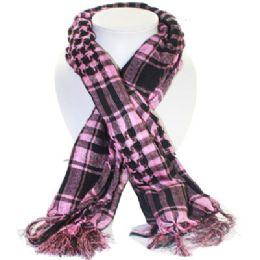36 Bulk Palestine Scarves In Pink And Black