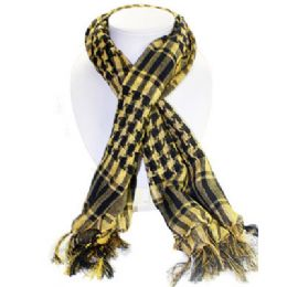 36 Bulk Palestine Scarves In Yellow And Black