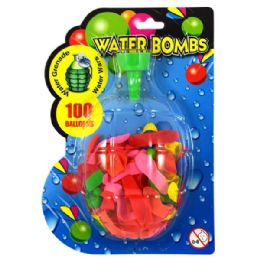 72 Bulk Water Balloons 100ct W/ Filler